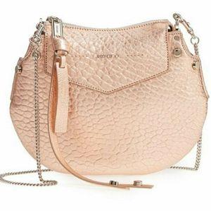 Jimmy Choo Mini Artie Rose Gold Crossbody Handbag